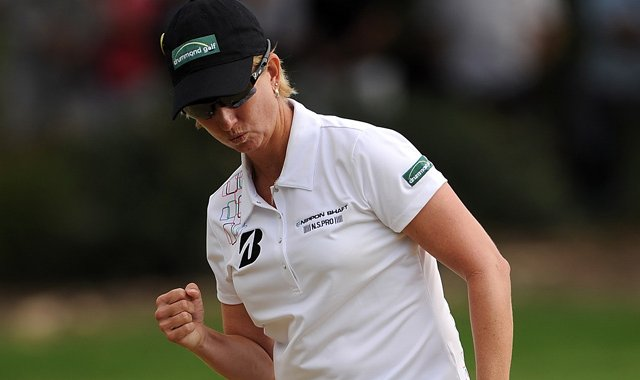 Karrie Webb stormed back to win the Australian Ladies Masters at Royal Pines Resort.