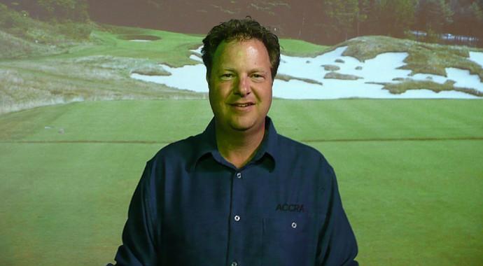 Gawain Robertson, co-owner of shaftmaker Accra Premium Golf Shafts in Kingston, Ontario, Canada.