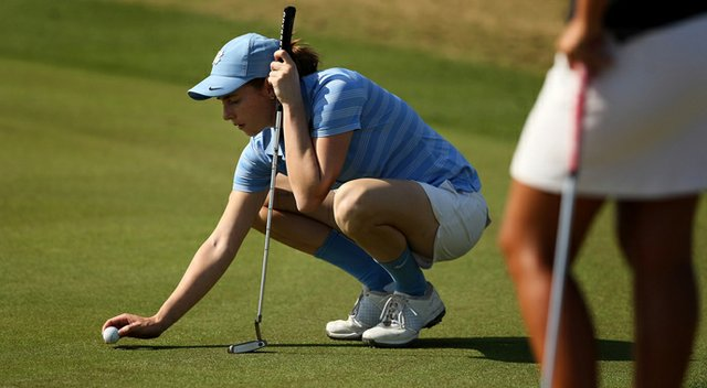 Katherine Perry of North Carolina during the UCF Challenge at Red Tail Golf Club in Sorrento, Fla. Perry posted a 69 in the final round.
