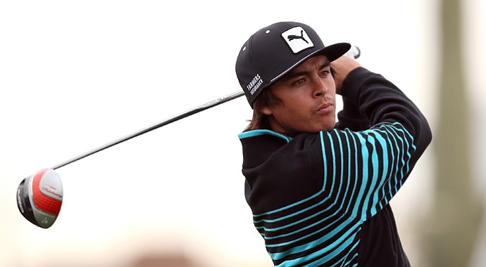 Rickie Fowler during the first round of the WGC-Accenture Match Play. Fowler was 1 down to Carl Pettersson entering No. 18 before play was suspended due to darkness on Thursday.