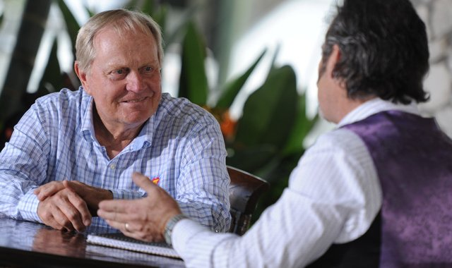 "Jack Nicklaus (left) is the first guest of the season on Golf Channel's ""Feherty."""