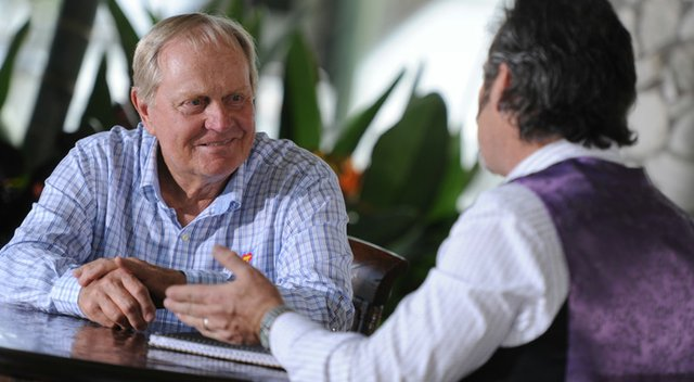 """Jack Nicklaus (left) is the first guest of the season on Golf Channel's """"Feherty."""""""