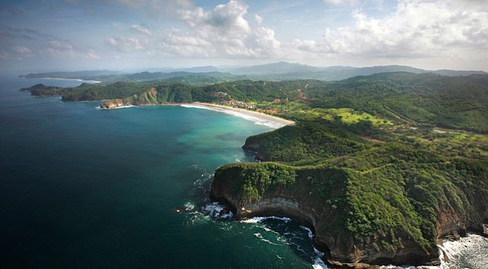 An aerial look at the Guacalito Golf Club in Mukul, Nicaragua.