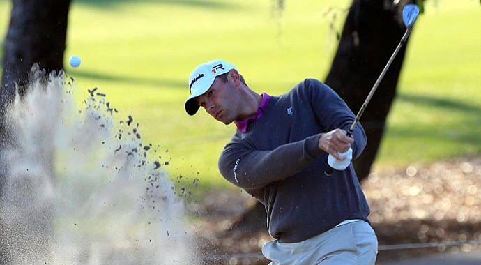 Shawn Stefani plays a shot on the 5th hole during the first round of the Tampa Bay Championship.