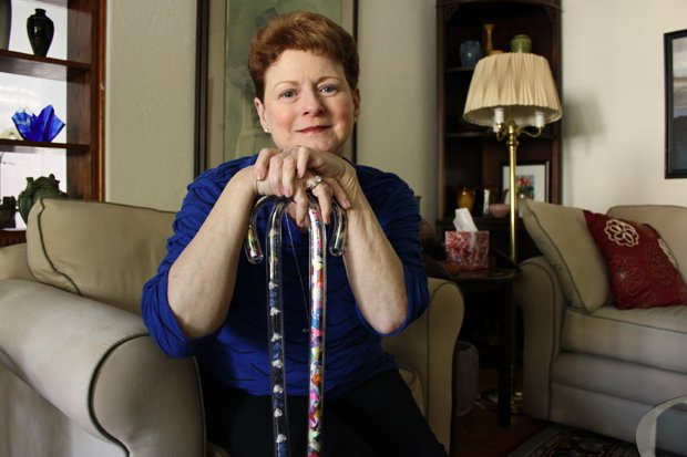 A Multiple Sclerosis diagnosis left Cathy Kerns ashamed to walk down the street. She created Style Sticks to give women needing canes a fashionable source of pride.