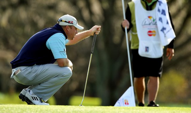 John Rollins posted a 34 on his first nine in Round 1 of the Arnold Palmer Invitational.