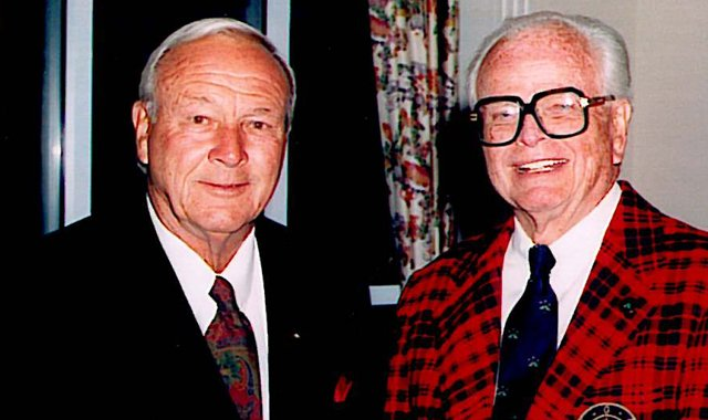 Arnold Palmer and Innisbrook architect Larry Packard.