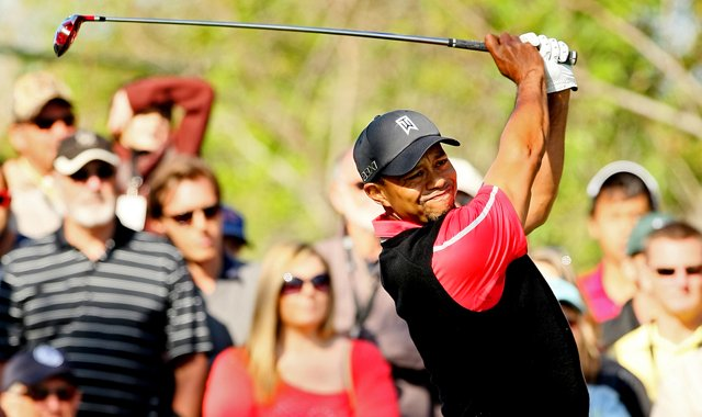 Tiger Woods hits his tee shot at No. 3 on Monday at Arnold Palmer Invitational at Bay Hill.