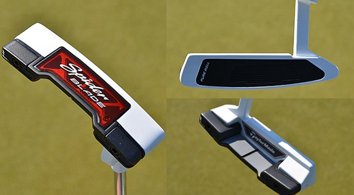 The TaylorMade Spider Blade putter features tungsten outer weights and a 130-gram counterbalanced grip, virtually ensuring a stable stroke.