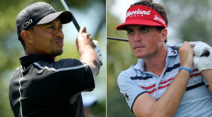 Tiger Woods and Keegan Bradley register as favorites at the 2013 Masters.