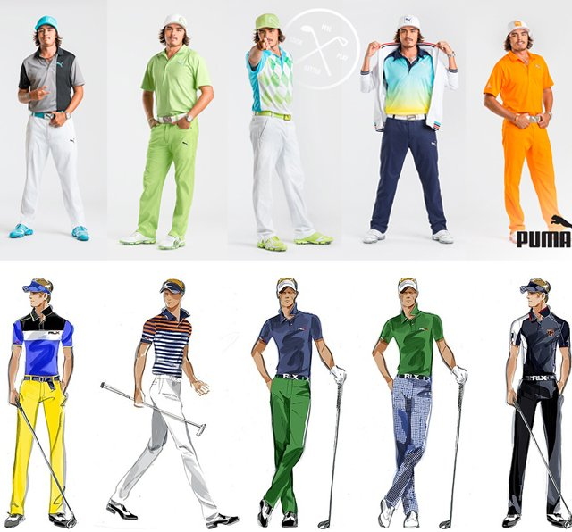 The Masters gear for Rickie Fowler (top) and Luke Donald.
