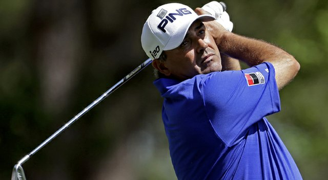 Angel Cabrera (shown during the third round of the 2013 Masters) finds himself back in competition immediately after the Presidents Cup as this week's Frys.com Open starts the 2013-14 season.