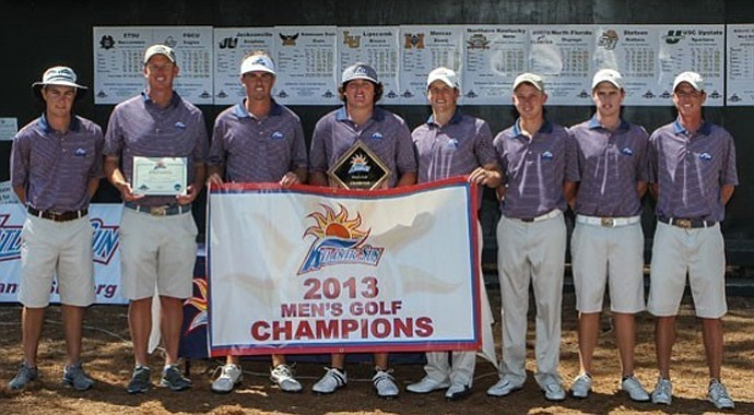 North Florida battled back to win the Atlantic Sun Conference by 14 shots.