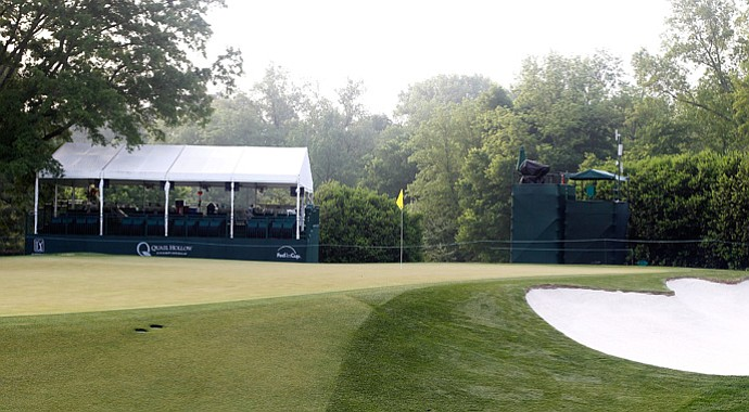 The 10th green at Quail Hollow.