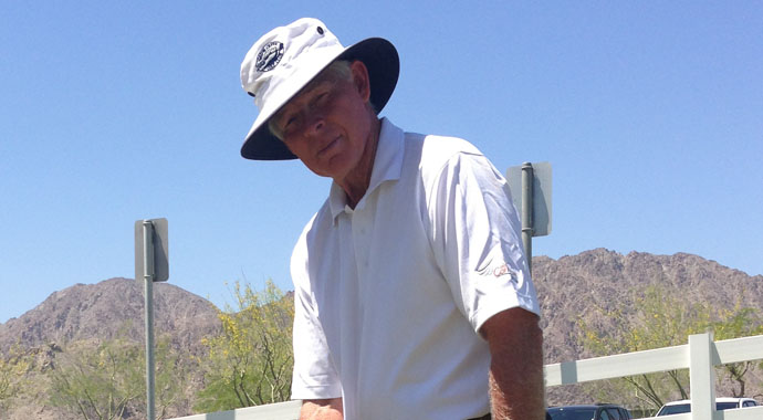 Ted Smith from Wilkinson, Ind., took advantage of perfect scoring conditions in Round 2 of the Golfweek Senior Amateur and put up a 2-under 70 at PGA West's Nicklaus Tournament Course.