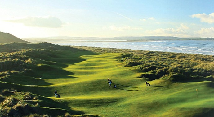 The 15th hole at Enniscrone Golf Club.