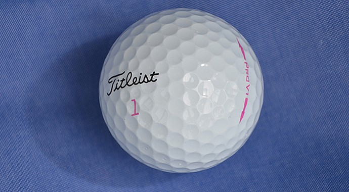 Titleist is now producing a pink-stamped, limited-edition Pro V1 golf ball.