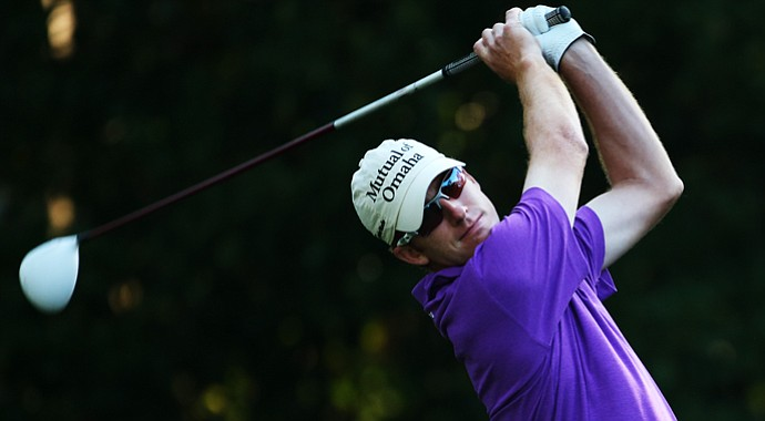 Roberto Castro plays a shot from the 11th tee during the first round of the 2013 Players Championship.