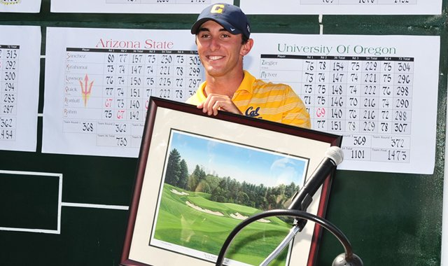 Max Homa won the individual title at the Pac-12 Championship.