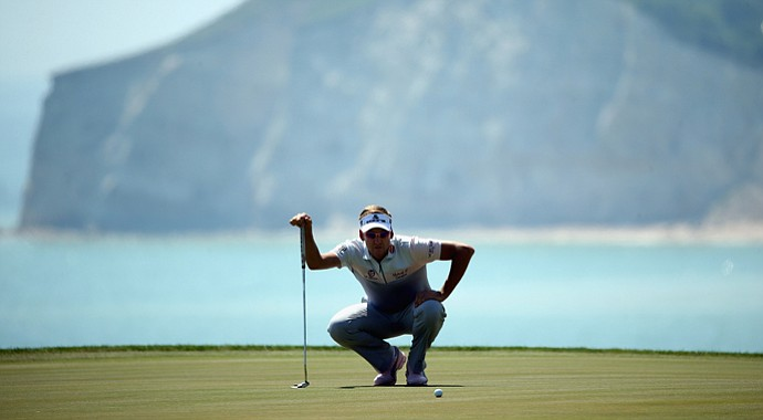 Ian Poulter lost to Thongchai Jaidee on Thursday in the first round at the Volvo Match Play, but is still alive due to the group format of the event.