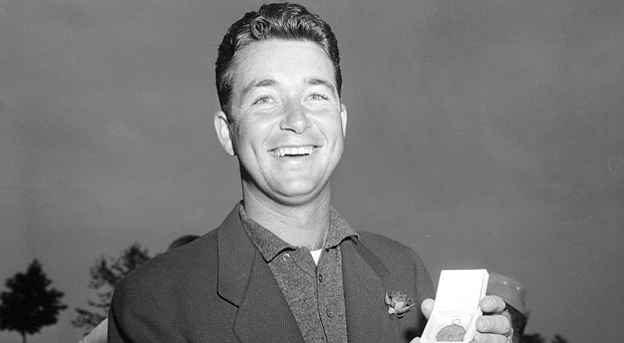 Ken Venturi after earning low-amateur honors at the 1956 U.S. Open.