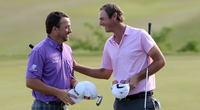 Graeme McDowell defeated Nicolas Colsaerts, 2 and 1, to advance to the semifinals of the Volvo World Match Play, but it was Colsaerts' up-and-down from a restroom that had everyone talking Saturday in Kavarna, Bulgaria.