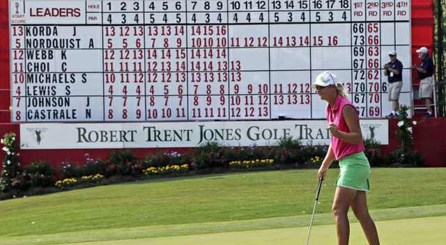 Anna Nordqvist shot a third-round 61 at the Mobile Bay LPGA Classic.