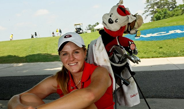 Georgia senior Emilie Burger is playing the NCAA Championship as an individual.