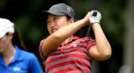 USC opens up commanding 17-shot lead at NCAAs