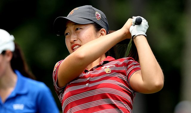 USC's Kyung Kim posted the best round of the Trojans in Round 3 of the 2013 Women's NCAA Championship.