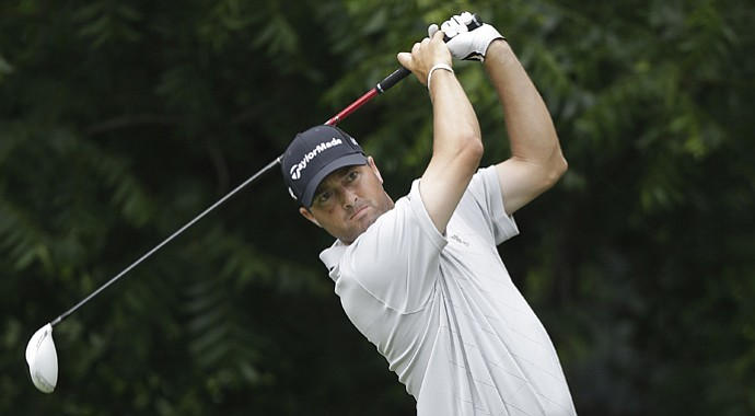 Ryan Palmer during the first round of the Crown Plaza Invitational at Colonial.