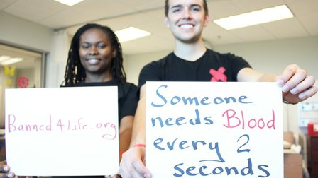 Student tries to end gay blood ban