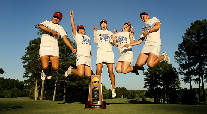 USC Trojans won by 21-shots at the 2013 Women's NCAA Championship.