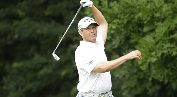 Lee Janzen during the U.S. Open Sectional Qualifier at Woodmont Country Club in Rockville, Md.