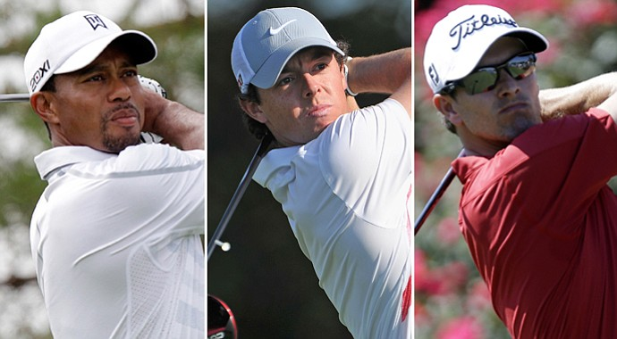 Tiger Woods, Rory McIlroy and Adam Scott will be paired in the first and second rounds at the U.S. Open.