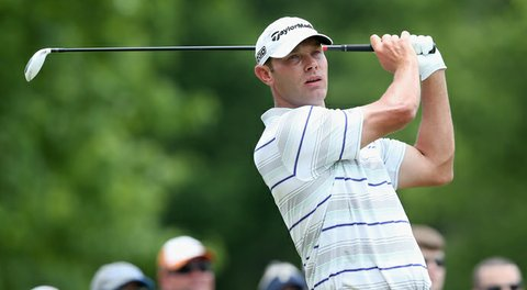 Shawn Stefani hits his tee shot on the par-4 2nd hole during the third round of the FedEx St. Jude Classic.