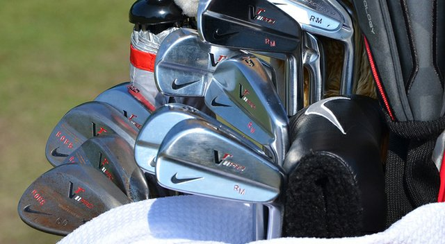 Rory McIlroy plays Nike VR Pro Blade irons, but he practiced with a Nike VR Pro Combo 2-iron in the days leading up to the U.S. Open.