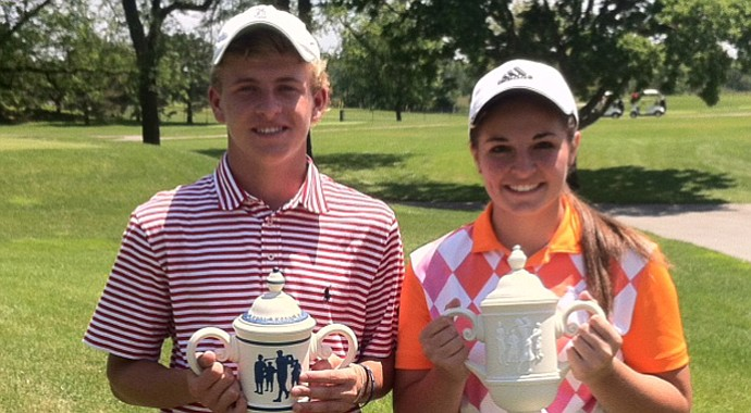 Michael Sass and Kylie Raines won the Golfweek Midwest Junior Invitational on June 14.