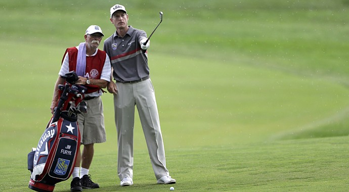 Jim Furyk won't be playing the final two rounds at Merion after rounds of 77-79.
