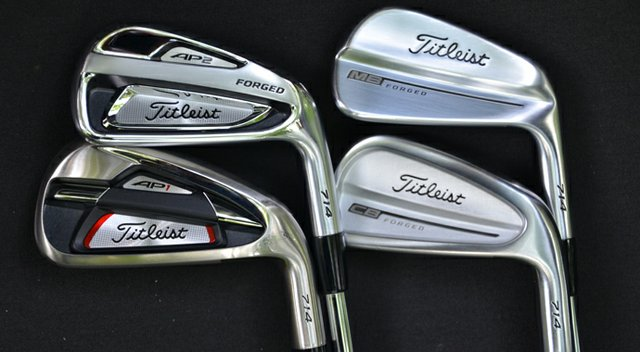 The new line of Titleist 714 irons.