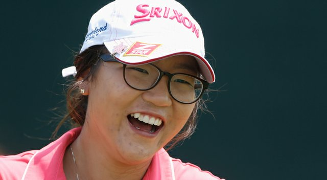 Amateur Lydia Ko waits to play a shot during a practice round prior to the start of the 2013 U.S. Women's Open.