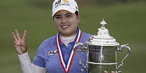 Park adjusts to unusual place for LPGA player: spotlight