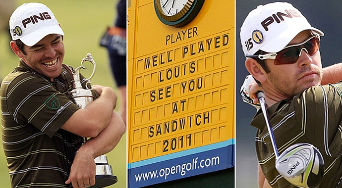 Louis Oosthuizen won the 2010 Open Championship.