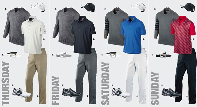 Charl Schwartzel's apparel at the 2013 Open Championship.