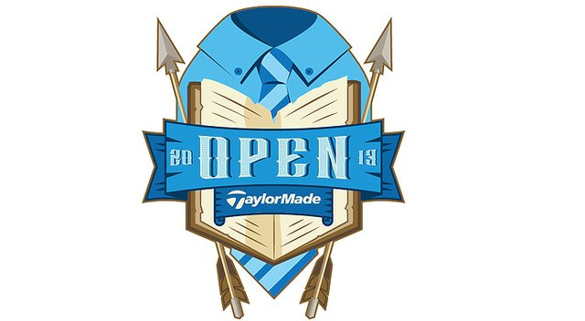 A look at TaylorMade's 2013 British Open logo.