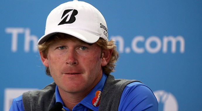 Brandt Snedeker answers questions from the media ahead of the Open Championship at Muirfield.