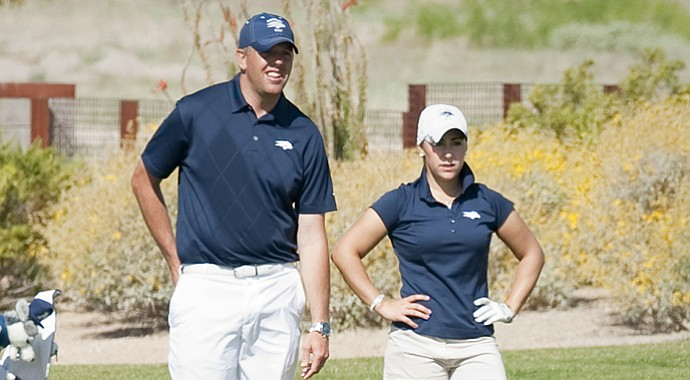 Chad Spencer (left) will return to Fresno State, his alma mater, as the head men's golf coach.
