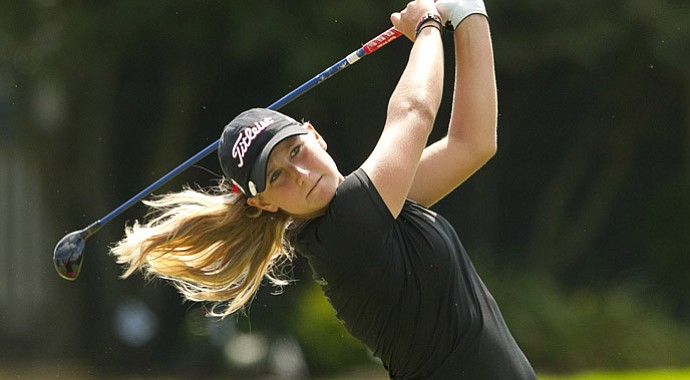 Bailey Tardy rallied to win her first-round match at the U.S. Girls' Junior.