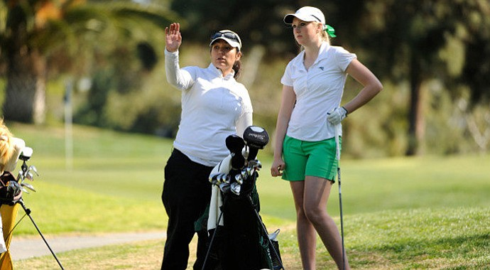Kathleen Takaishi (left) will leave Portland State and become the head women's golf coach at the University of Nevada.