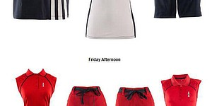A look at U.S. outfits for Friday at Solheim Cup